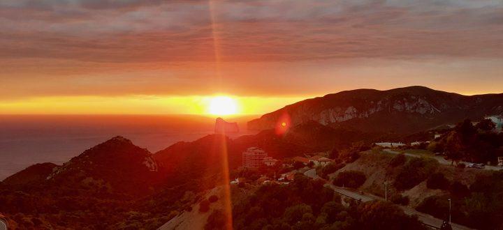 tramonto dal pedra rubia